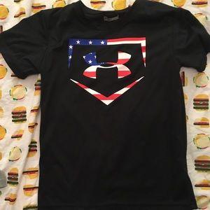 Under Armour Baseball Logo HEATGEAR Shirt Boys 7